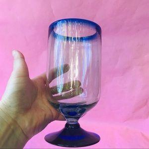 Vintage Accents - Vintage thick glass candle/napkins holder